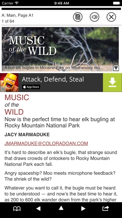 Fort Collins Coloradoan Print Screenshot on iOS