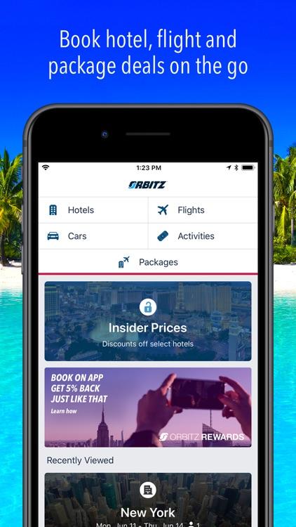 Orbitz Flight, Hotel, Packages screenshot-0