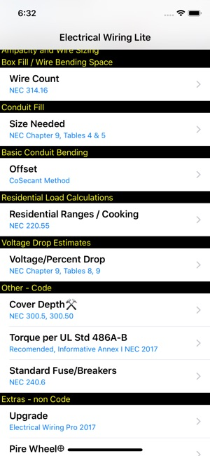Electrical wiring lite on the app store screenshots keyboard keysfo Choice Image