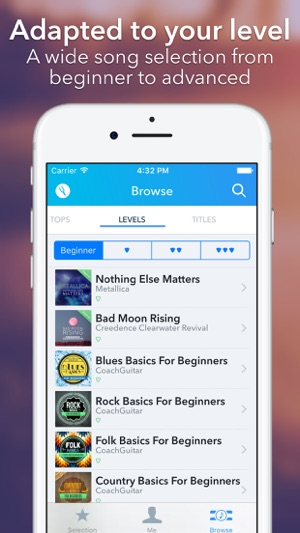 Coach Guitar Chords Tuner Tabs On The App Store