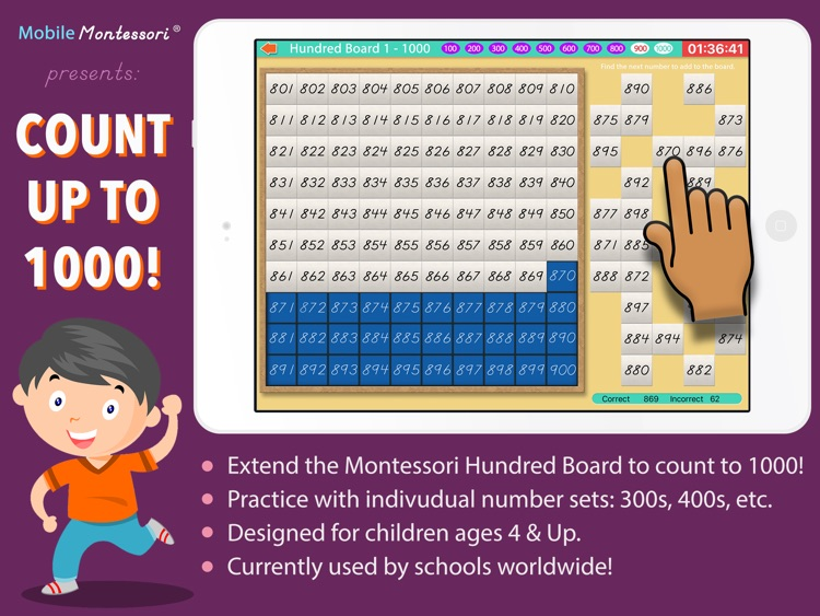 Count to 1000! Montessori Math screenshot-0