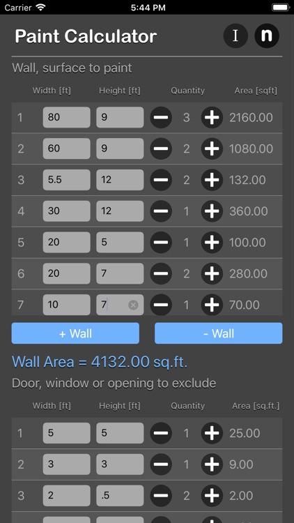Paint Calculator Plus screenshot-4