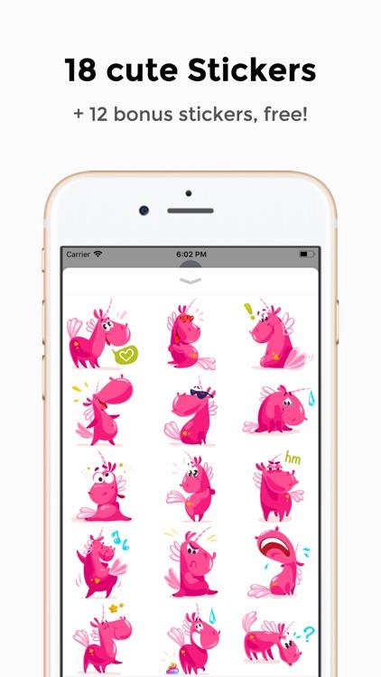 Pinky Unicorn Stickers