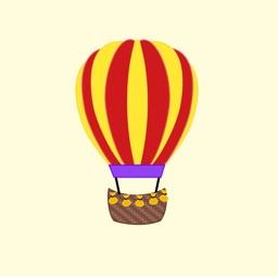 Lotsa Hot Air Balloon Stickers
