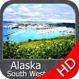 Marine : Alaska South West HD - GPS Map Navigator