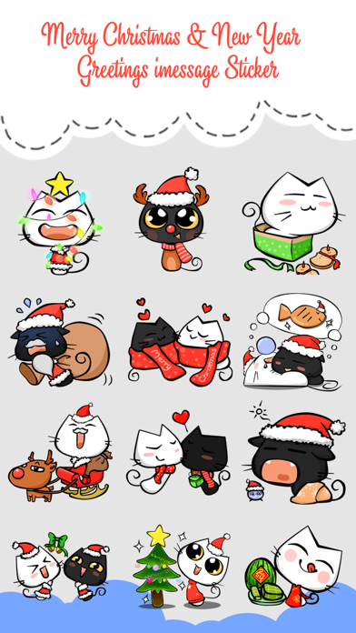 Xmas & New Year Animated Cat screenshot one