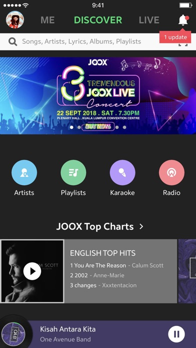 JOOX Music Screenshots