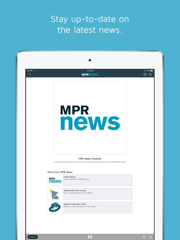 MPR Radio iPad