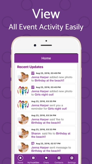 Text Invite Maker Purpleslate On The App Store