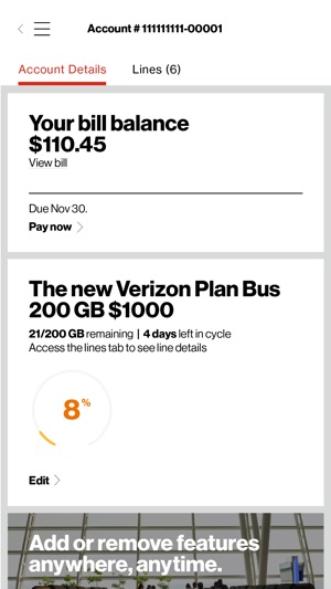 My Verizon For Business On The App Store - Business invoices free verizon online store