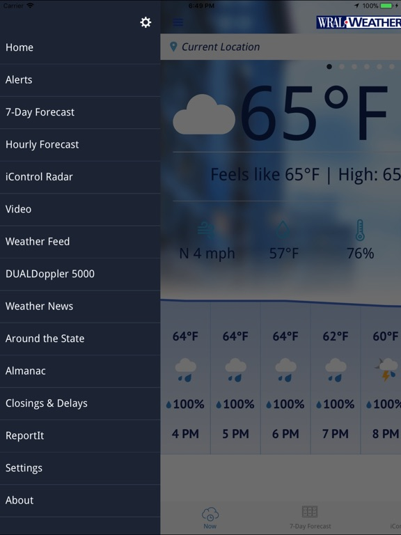 WRAL Weather iPad
