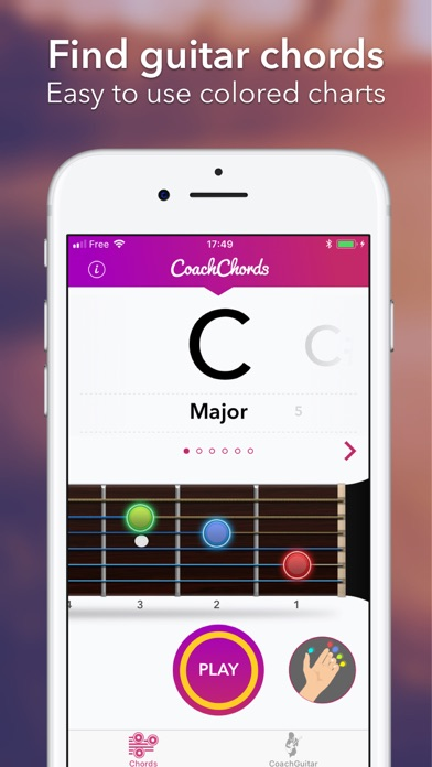 Guitar Chords chart &notes app screenshot 1