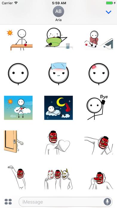 Animated Funny StickMan Emoji - 窓用