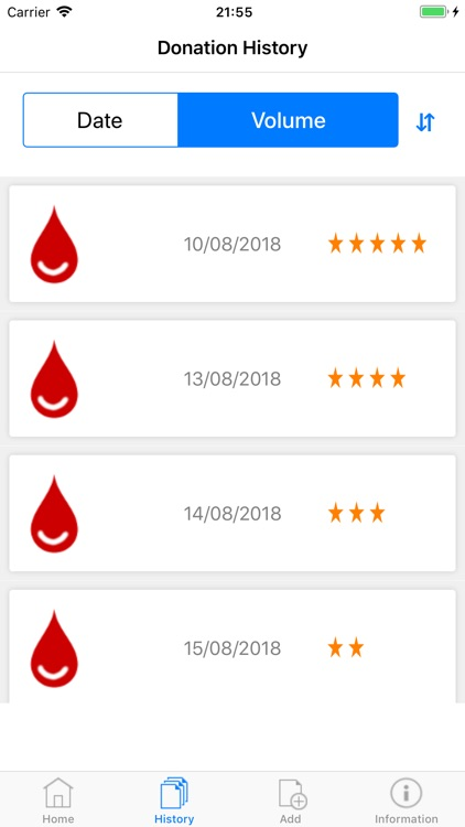 Blood Donor Diary screenshot-2
