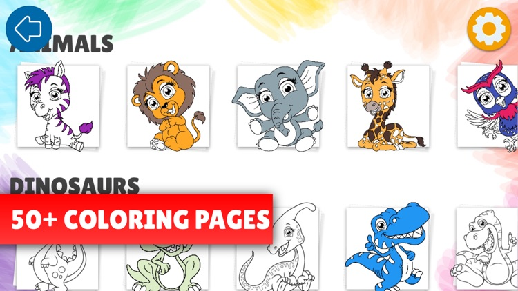 Color drawing pages for kids