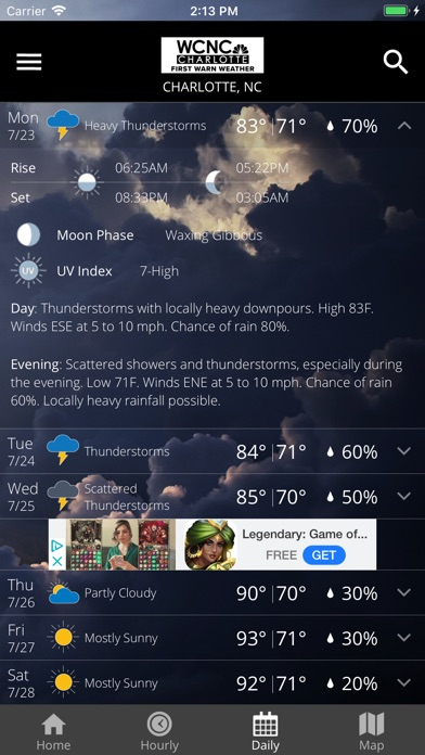 WCNC Charlotte Weather App for Windows