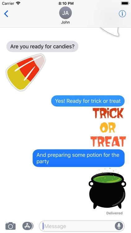 Enjoy Halloween Stickers screenshot-3