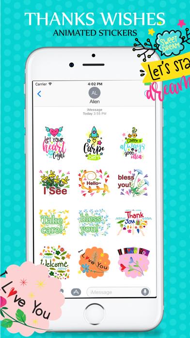 Animated Wishes Stickers Pack screenshot three