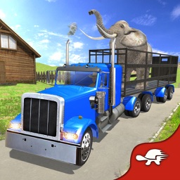 Farm & Zoo Angry Animals Transporter Truck Driving