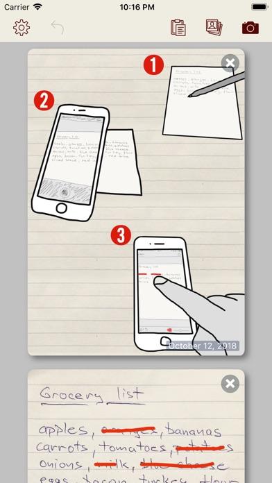 Paper Shopping List + Screenshots