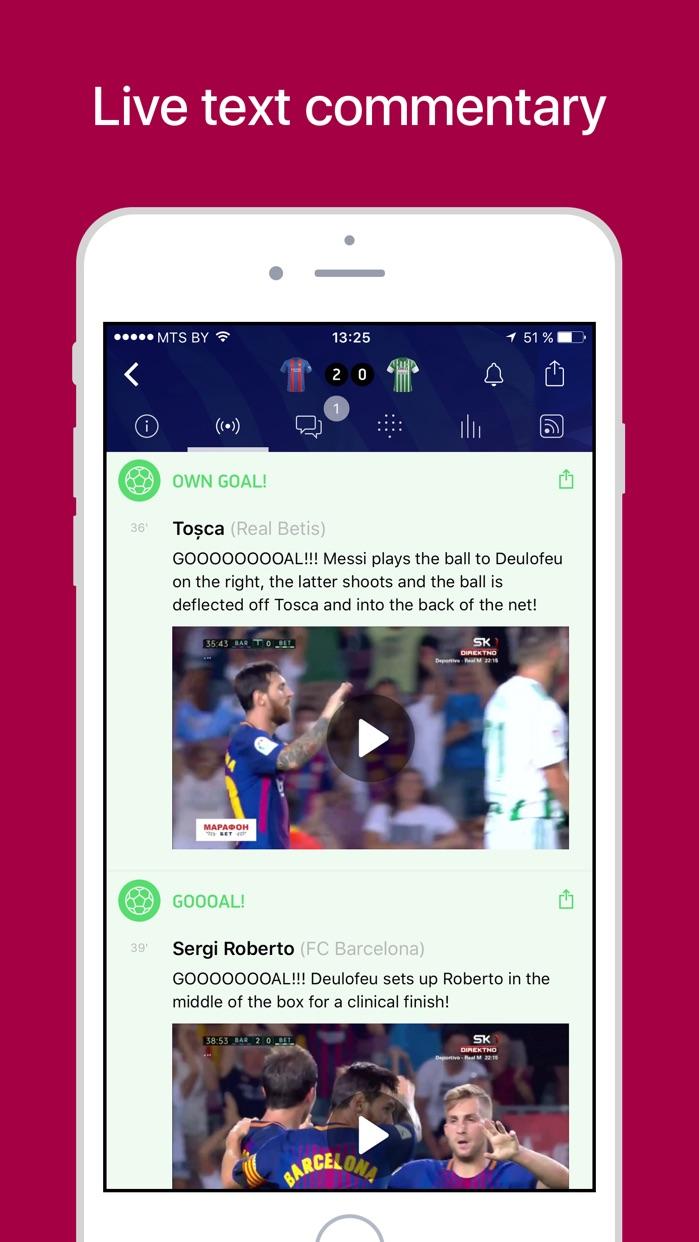 Barcelona Live — Scores & News Screenshot
