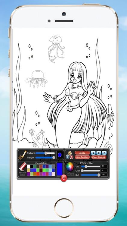 Coloring Book Mermaids screenshot-3