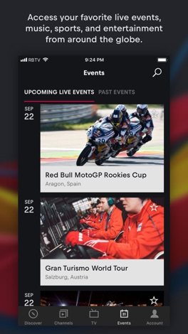 Red Bull TV screenshot for iPhone