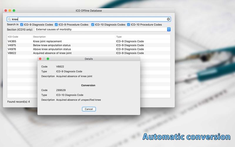 ICD Offline Database скриншот программы 4
