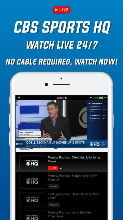 CBS Sports App Scores & Stats screenshot-3