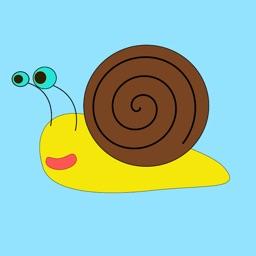 Slow Poke Snail Sticker Pack