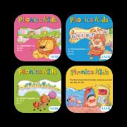 英语自然拼读系列Phonics Kids全套12册,儿童英语启蒙早教趣味课程,学习拼读发音和练习的最佳工具