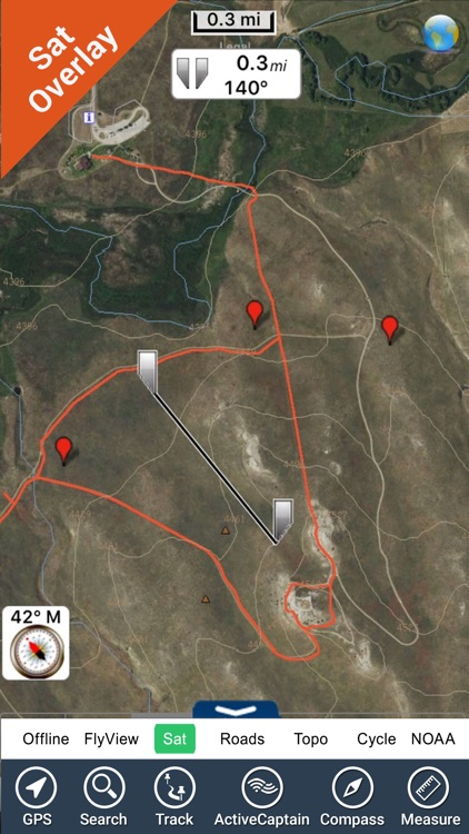 Agate Fossil Beds National Monument GPS chart