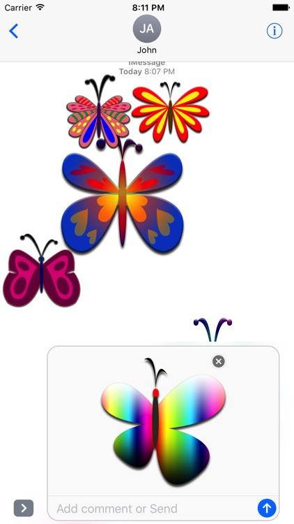 Butterflies Stickers screenshot-4