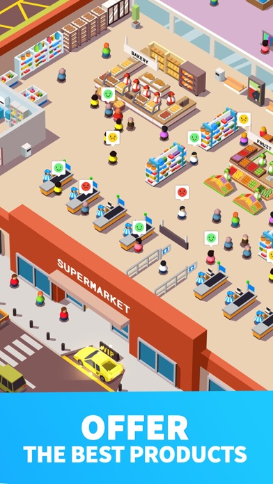 Screenshot for Idle Supermarket Tycoon - Shop in Israel App Store