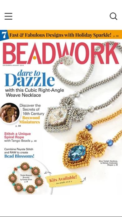 Beadwork Magazine screenshot one