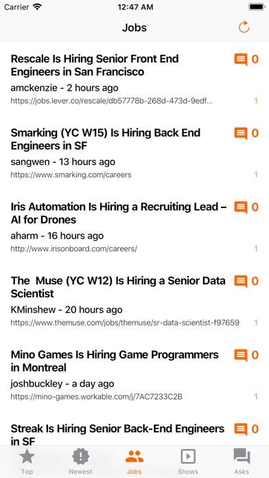 YC News - HN Client screenshot three