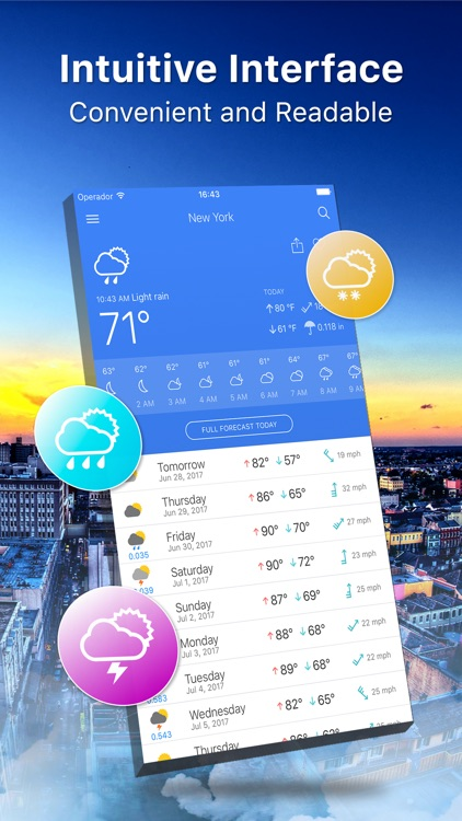 Weather 14 days Pro screenshot-0