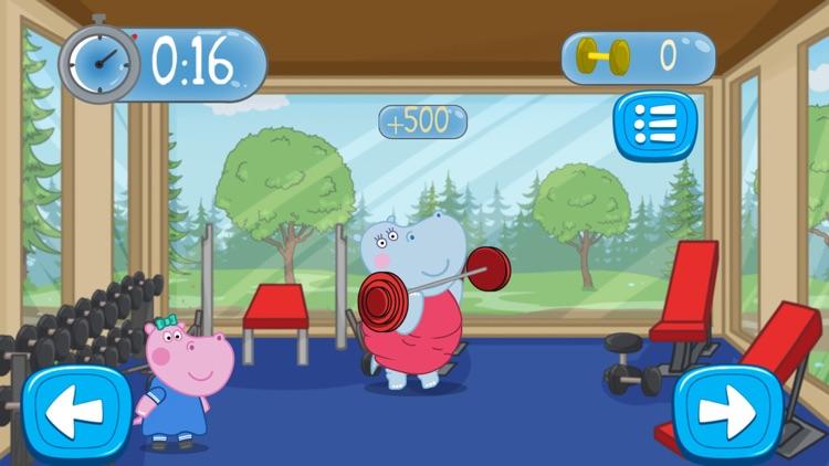 Fitness Games: Hippo Trainer screenshot-4