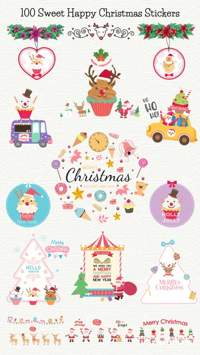 Sweet Happy Christmas Stickers screenshot 1