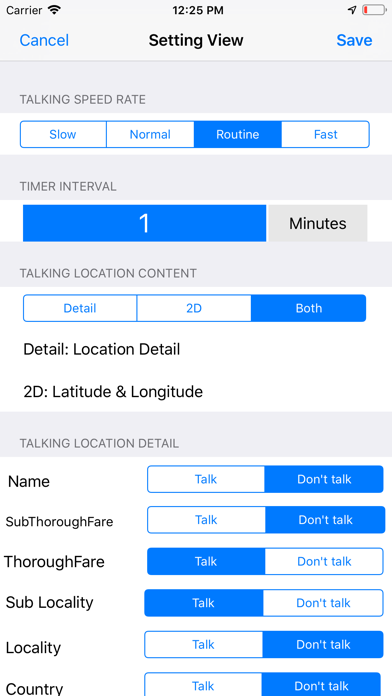 Talking Location Pro Screenshots