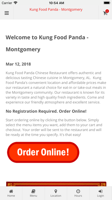 Kung Food Panda Montgomery