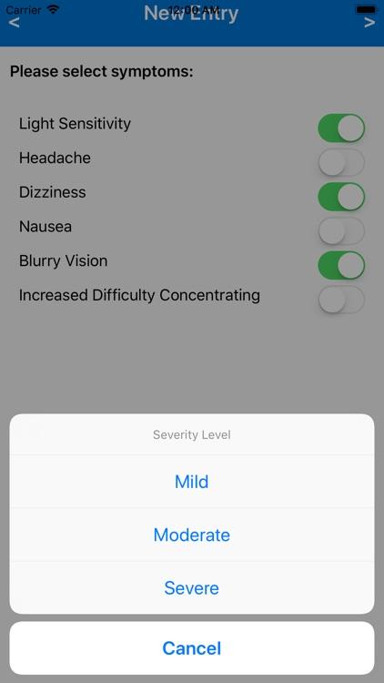 Concussion Symptom Tracker
