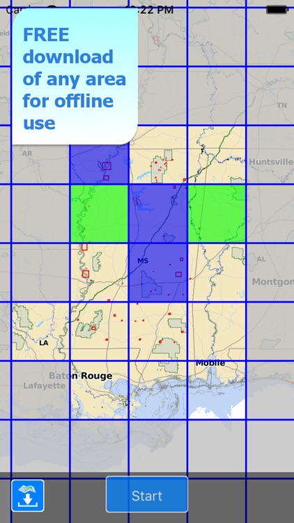 Aqua Map Mississippi Lakes HD screenshot-5
