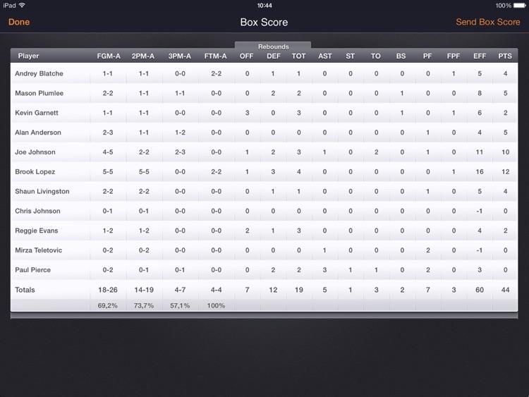 Basketball Stats PRO Lite screenshot-4
