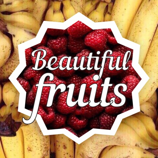 Beautiful fruits icon