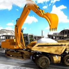 Activities of Excavator Snow Rescue: Winter Truck Hill Simulator