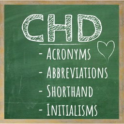 CHD Abbreviation Chalkboards