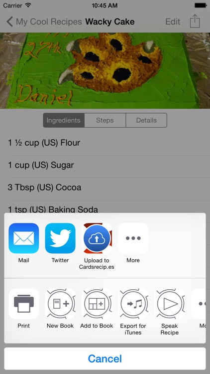Cards, A Recipe App screenshot-2