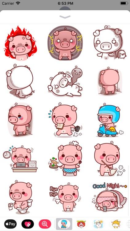 Pinky Pig Sticker screenshot-4