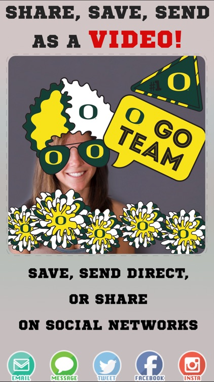 Oregon Ducks Animated Selfie Stickers screenshot-3